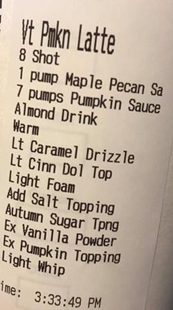 星巴克菜單